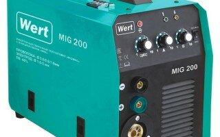 Все о сварочном аппарате Wert MIG 200